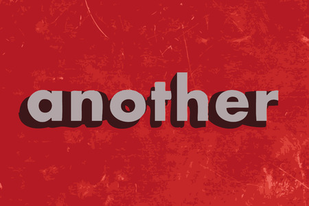 another: another vector word on red concrete wall Illustration