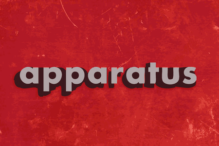 apparatus: apparatus vector word on red concrete wall Illustration
