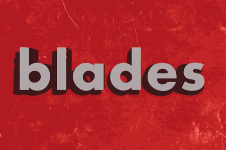 blades: blades vector word on red concrete wall