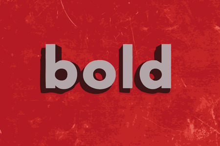 bold: bold vector word on red concrete wall