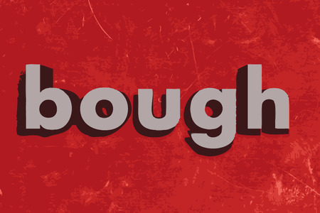 bough: bough vector word on red concrete wall Illustration