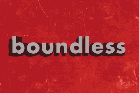 boundless: boundless vector word on red concrete wall