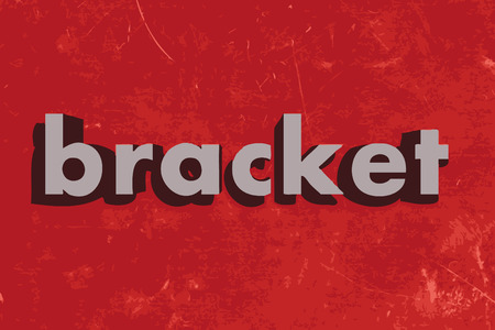 bracket: bracket vector word on red concrete wall Illustration