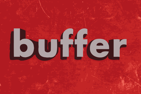 buffer: buffer vector word on red concrete wall