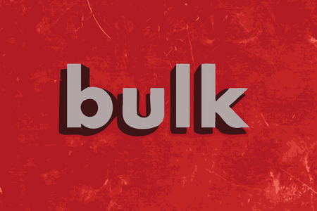 bulk: bulk vector word on red concrete wall