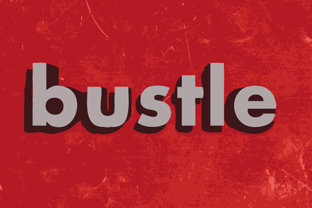 bustle: bustle vector word on red concrete wall Illustration