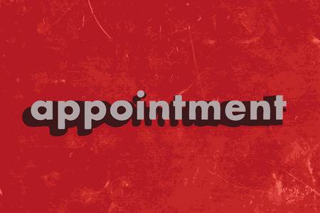 appointments: appointment vector word on red concrete wall Illustration