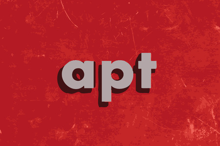 apt: apt vector word on red concrete wall