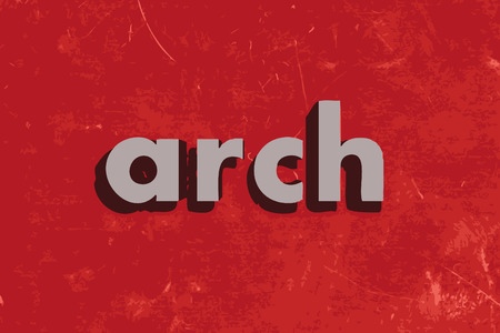arch: arch vector word on red concrete wall