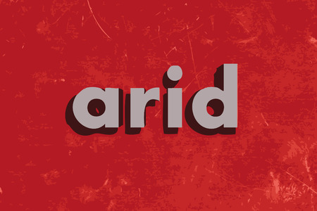 arid: arid vector word on red concrete wall