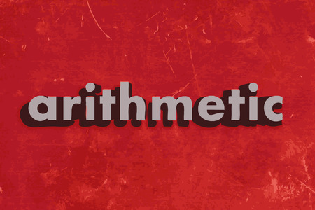 arithmetic: arithmetic vector word on red concrete wall