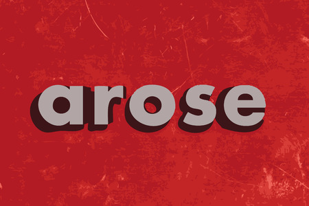 arose: arose vector word on red concrete wall Illustration