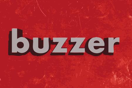 buzzer: buzzer vector word on red concrete wall
