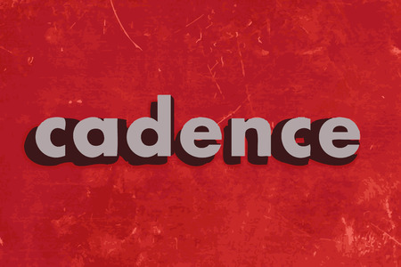 cadence: cadence vector word on red concrete wall