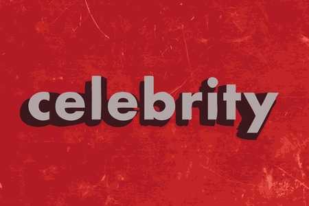 celebrity vector word on red concrete wall