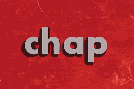 chap: chap vector word on red concrete wall Illustration