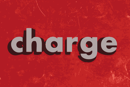 charge: charge vector word on red concrete wall