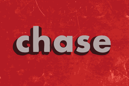chase: chase vector word on red concrete wall Illustration