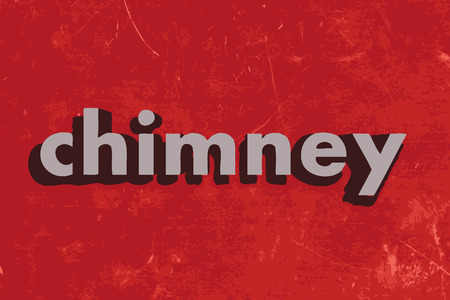 chimney: chimney vector word on red concrete wall Illustration