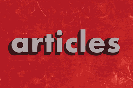articles: articles vector word on red concrete wall