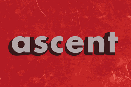 ascent: ascent vector word on red concrete wall