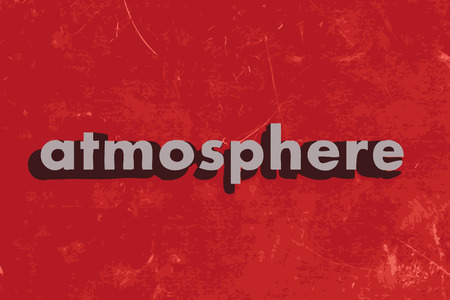 the atmosphere: atmosphere vector word on red concrete wall