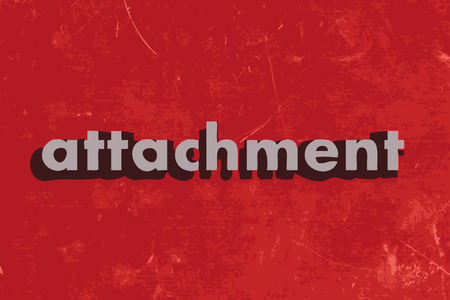 attachment: attachment vector word on red concrete wall