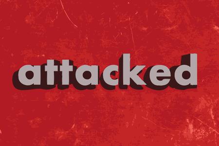 atacaba: palabra vector atacado en rojo muro de hormig�n
