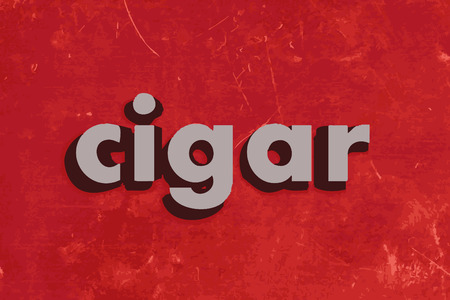 cigar: cigar vector word on red concrete wall
