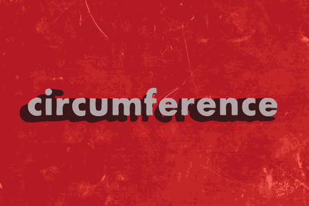 circumference: circumference vector word on red concrete wall