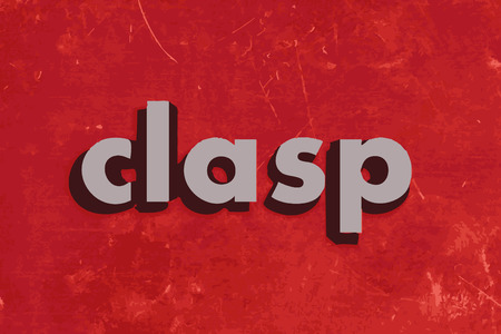 clasp: clasp vector word on red concrete wall