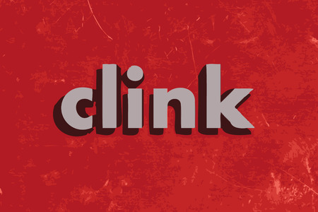 clink: clink vector word on red concrete wall