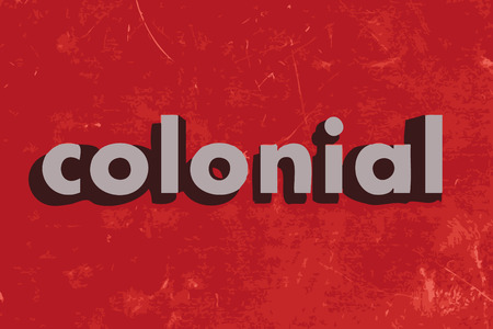 colonial: colonial vector word on red concrete wall
