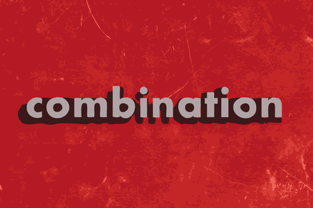 combination: combination vector word on red concrete wall