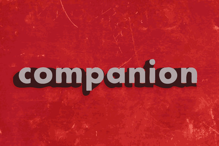 companion: companion vector word on red concrete wall Illustration