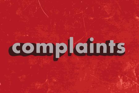 klachten vector woord over de rode betonnen muur