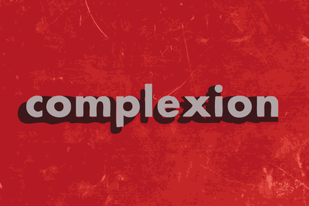 complexion: complexion vector word on red concrete wall