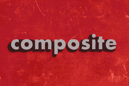 composite: composite vector word on red concrete wall