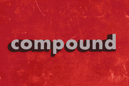 compound: compound vector word on red concrete wall Illustration