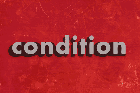 condition: condition vector word on red concrete wall Illustration