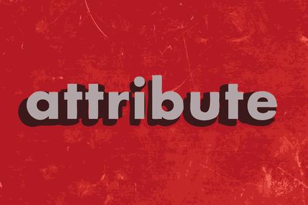 attribute: attribuut vector woord over de rode betonnen muur