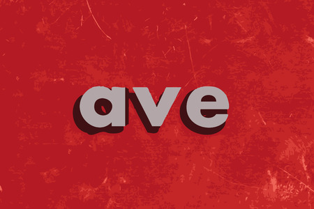 ave: ave vector word on red concrete wall Illustration