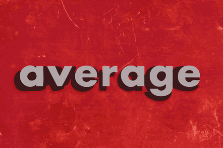 average: average vector word on red concrete wall