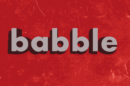 babble: babble vector word on red concrete wall