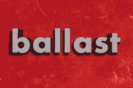 ballast: ballast vector word on red concrete wall