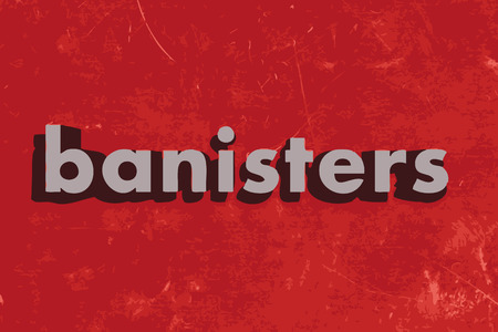 banisters: banisters vector word on red concrete wall