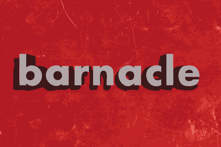barnacle: barnacle vector word on red concrete wall
