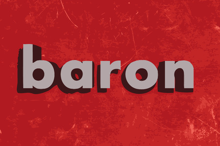 baron: baron vector word on red concrete wall