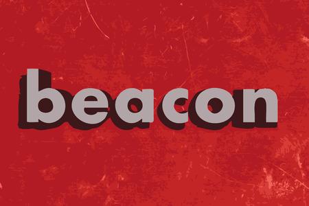 beacon: beacon vector word on red concrete wall