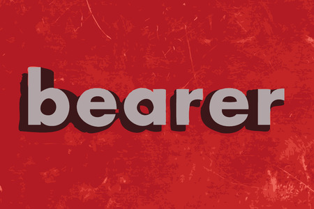 bearer: bearer vector word on red concrete wall